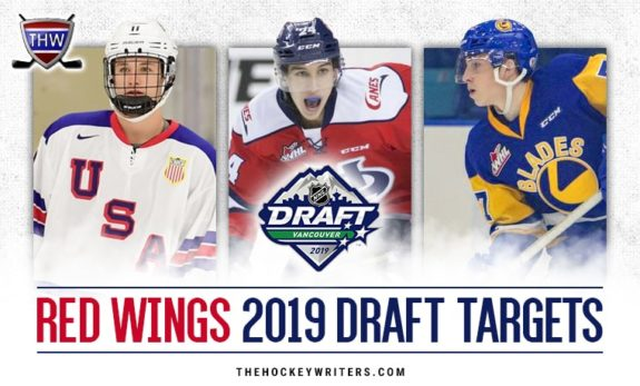 Potential Red Wings draft picks Trevor Zegras, Dylan Cozens, and Kirby Dach