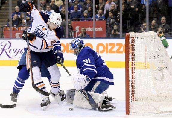 Edmonton Oilers Leon Draisaitl Toronto Maple Leafs Frederik Andersen