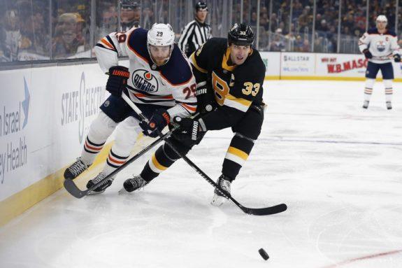 Edmonton Oilers Leon Draisaitl Boston Bruins Zdeno Chara