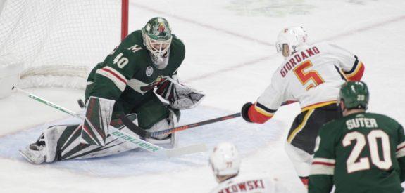 Calgary Flames Mark Giordano Minnesota Wild Devan Dubnyk