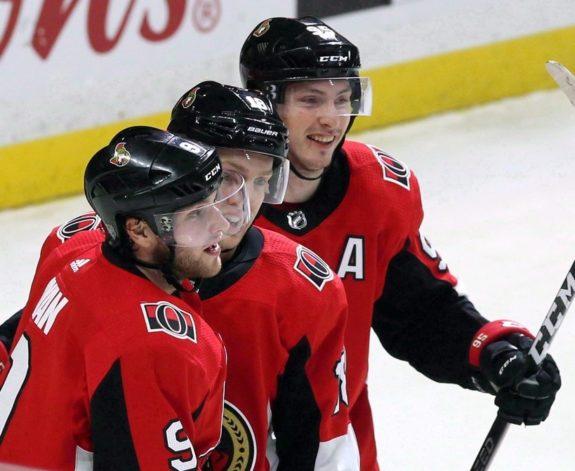 Ottawa Senators Bobby Ryan Ryan Dzingel Matt Duchene