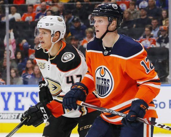 Anaheim Ducks Hampus Lindholm Edmonton Oilers Colby Cave