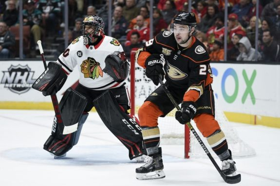 Anaheim Ducks Devin Shore Chicago Blackhawks Corey Crawford
