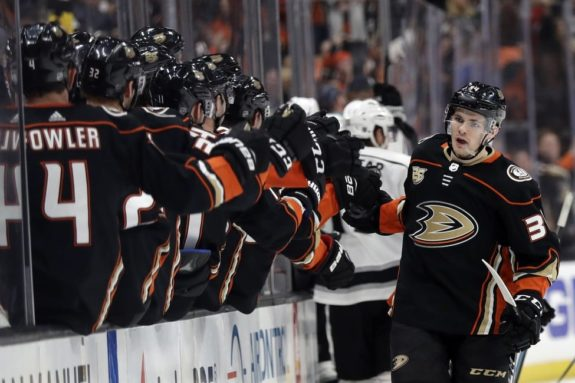 Anaheim Ducks' Sam Steel
