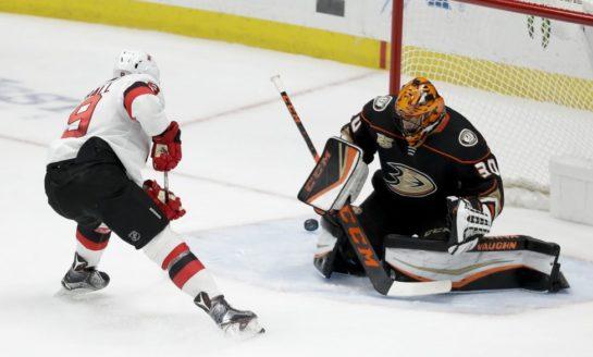 Ducks Fly Past Devils in Shootout