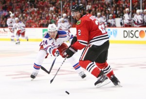 The Blackhawks and Rangers spend a lot of time on NBCSN. (Jerry Lai-USA TODAY Sports)