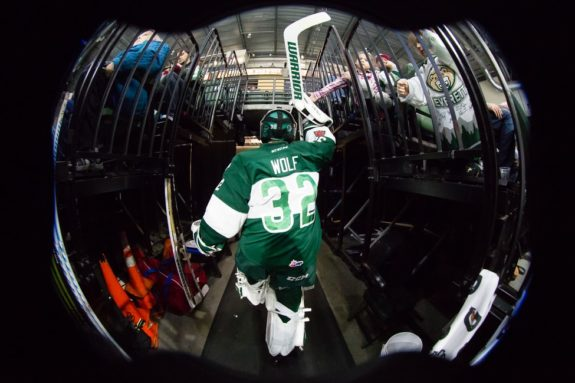 Everett Silvertips goalie Dustin Wolf