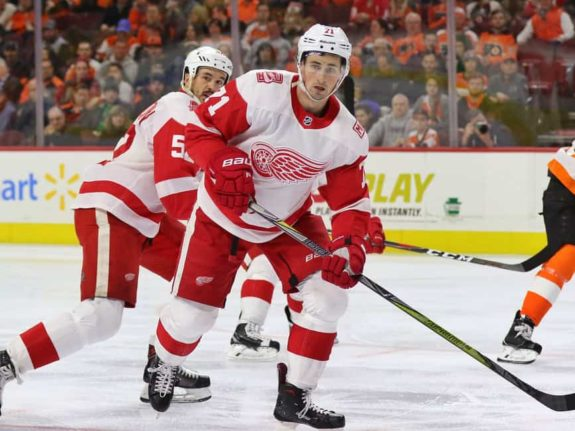 Dylan Larkin of the Detroit Red Wings