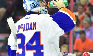 Islanders' Prospect McAdam Works with Halak & Ho-Sang