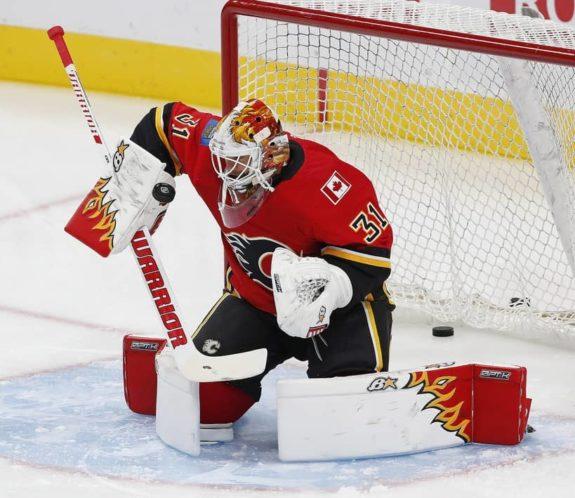 Calgary Flames goaltender Eddie Lack