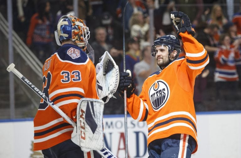 Edmonton Oilers Cam Talbot Kris Russell