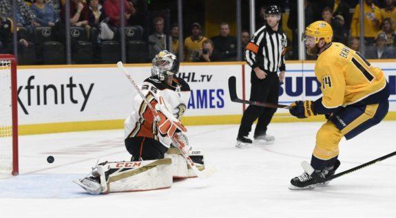 Nashville Predators Mattias Ekholm Anaheim Ducks John Gibson