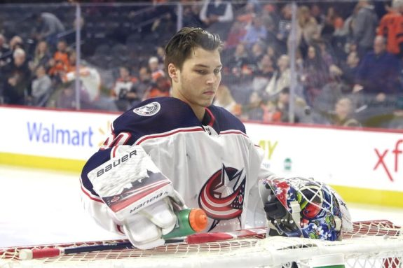 Elvis Merzlikins Columbus Blue Jackets