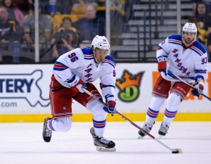 Emerson Etem spent only 19 games in a New York Rangers jersey before his trade to the Vancouver Canucks. (Bob DeChiara-USA TODAY Sports)