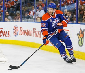 Gryba was a physical force on the Oilers' blueline in 2015-16. (Perry Nelson-USA TODAY Sports)