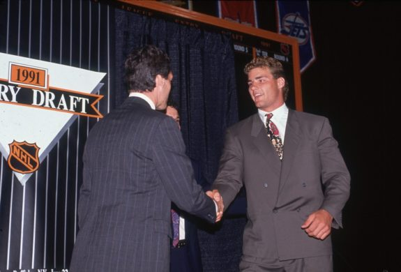 Eric Lindros, 1991 Draft, Quebec Nordiques, Philadelphia Flyers