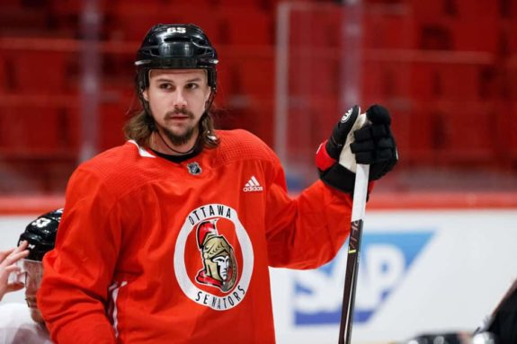 Erik Karlsson #65 of the Ottawa Senators