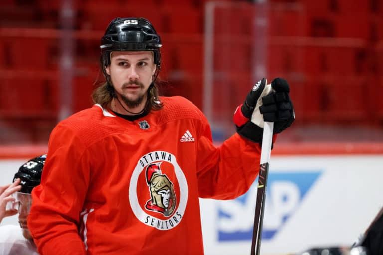 Erik Karlsson #65 of the Ottawa Senators