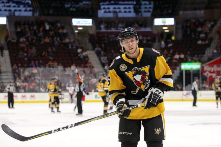 Wilkes-Barre/Scranton Penguins defenceman Ethan Prow