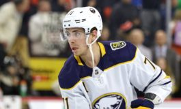Rodrigues Scores 2 Goals to Lift Sabres Past Red Wings 5-1
