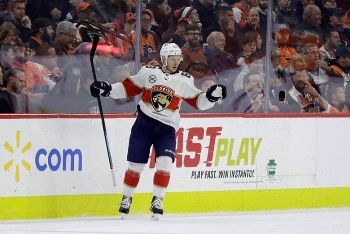brand new 80562 9b441 Florida Panthers Beat Philadelphia Flyers - Ekblad, Dadonov ...