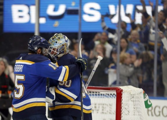 St. Louis Blues' Robby Fabbri Jordan Binnington