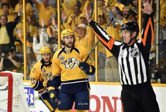 Nashville Predators center Filip Forsberg