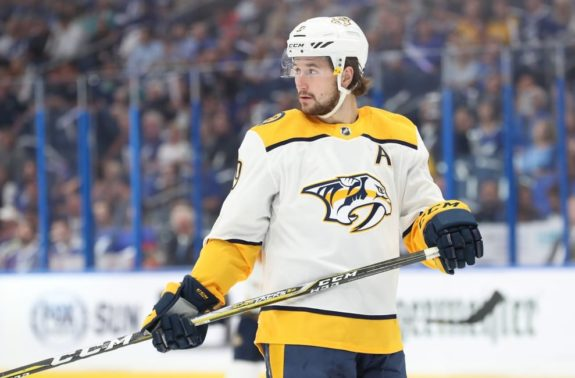 Predators left wing Filip Forsberg