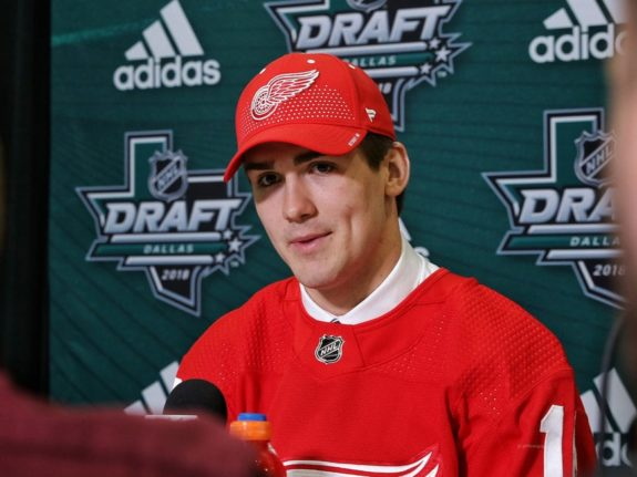 Filip Zadina of the Detroit Red Wings