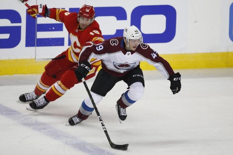 Colorado Avalanche Samuel Girard Calgary Flames James Neal