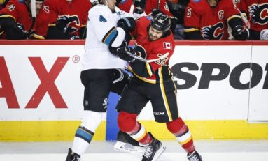 Dillon Dube Leads Flames past Sharks Preseason Win