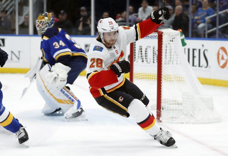 Calgary Flames' Elias Lindholm