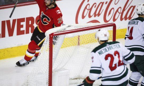 Flames Blank Wild on Smith Shutout