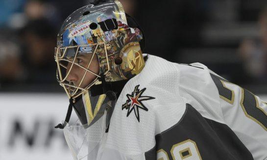 Fleury Helps Golden Knights Beat Blackhawks in Shootout