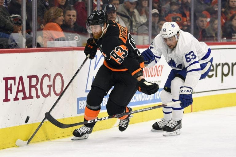Philadelphia Flyers Jakub Voracek Toronto Maple Leafs Cody Ceci