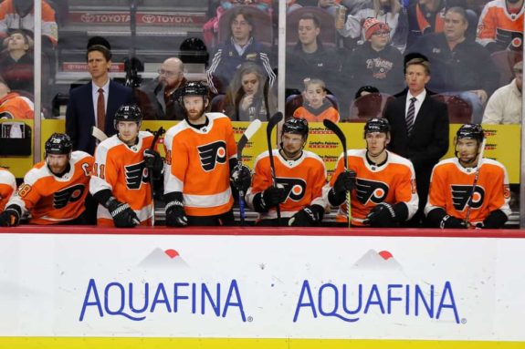 Philadelphia Flyers bench
