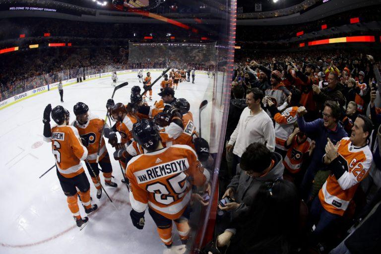 Philadelphia Flyers celebrate