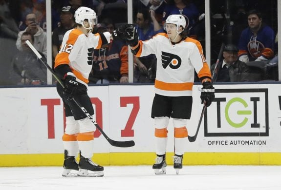 Philadelphia Flyers' Michael Raffl Travis Konecny