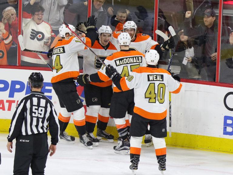 Flyers goal celebration