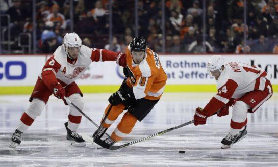 Flyers Top Red Wings - Hart & Gordon Win in NHL Debuts