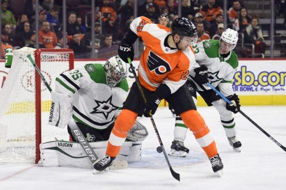 Philadelphia Flyers' James van Riemsdyk Dallas Stars Anton Khudobin
