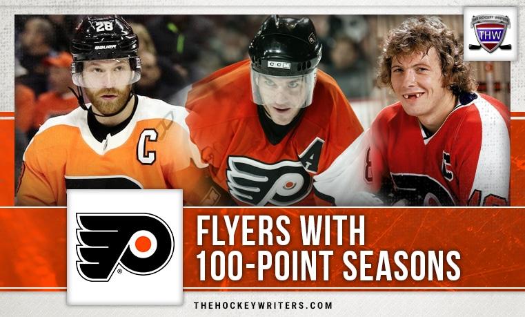 100 point seasons Philadelphia Flyers Claude Giroux Bobby Clarke Mark Recchi
