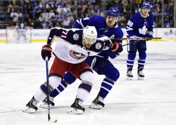 Columbus Blue Jackets Nick Foligno Toronto Maple Leafs Auston Matthews
