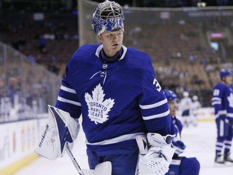 Maple Leafs goaltender Frederik Andersen