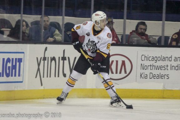 Gage Quinney Chicago Wolves