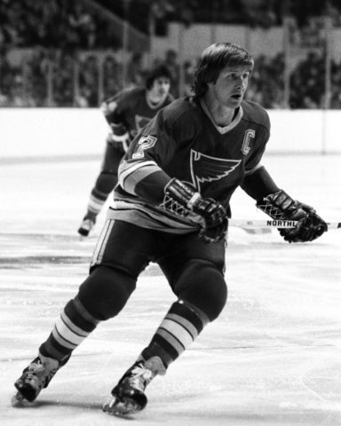 Gary Unger #7 of the St. Louis Blues
