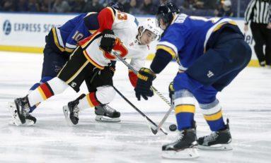 Flames Bury Blues - Gaudreau & Quine Score Twice