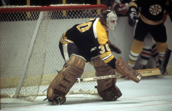 Goalie Gerry Cheevers