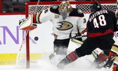 Ducks Fly Past Hurricanes in Overtime