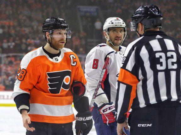 Giroux Flyers Ovechkin Capitals